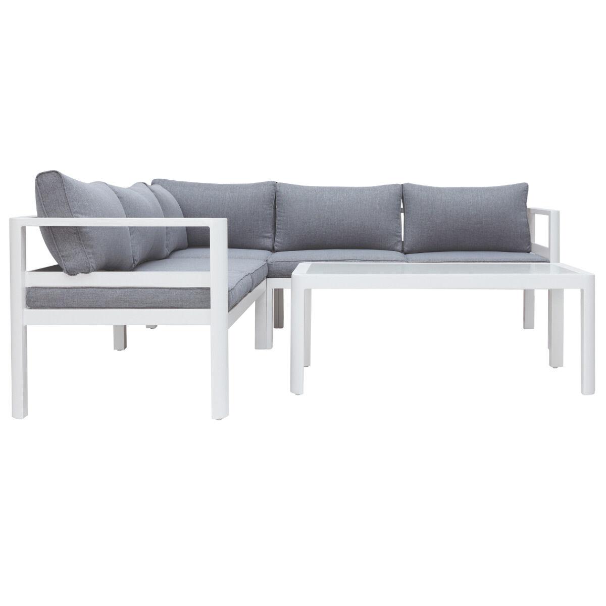 Miliboo Salon de jardin design gris foncé avec table basse TONIGHT