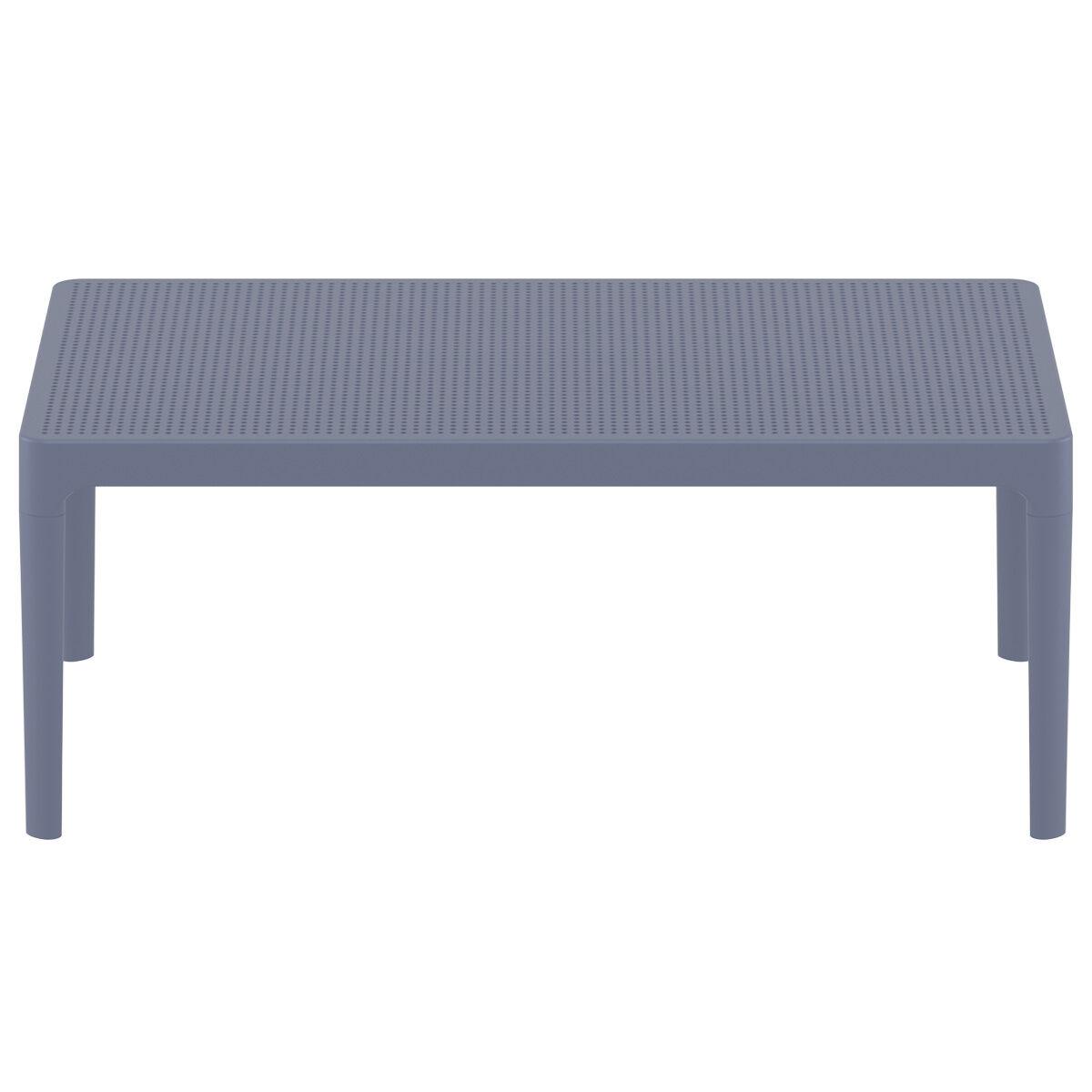 Miliboo Table basse design intérieur / extérieur gris OSKOL