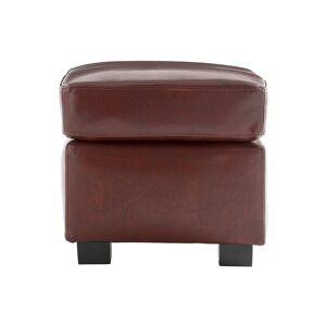 Miliboo Pouf / repose pied Club cuir marron clair - cuir de buffle