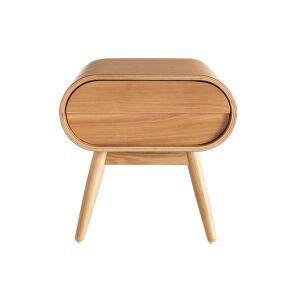 Miliboo Table de chevet design frêne 1 tiroir BJORG