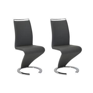 Vente-unique.be Lot de 2 chaises TWIZY - Simili Noir