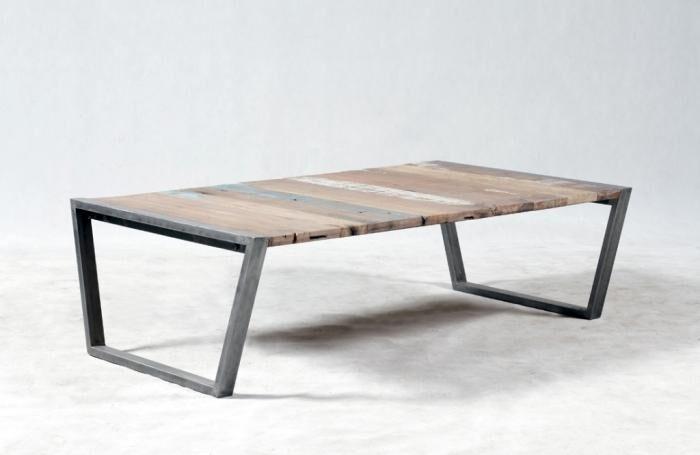 KLEO Table basse rectangulaire bermudes 140 cm x 80 cm