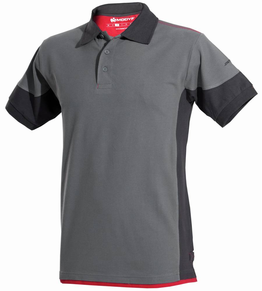Würth Modyf Polo de travail Stretchfit gris/anthracite - Würth MODYF - Taille XS