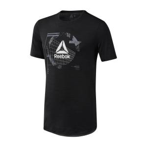 REEBOK T-shirt, col rond, manches courtes, Activchill