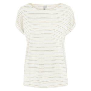 PIECES T-shirt à rayures brillantes