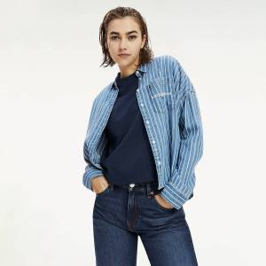 TOMMY JEANS Chemise rayée coupe courte