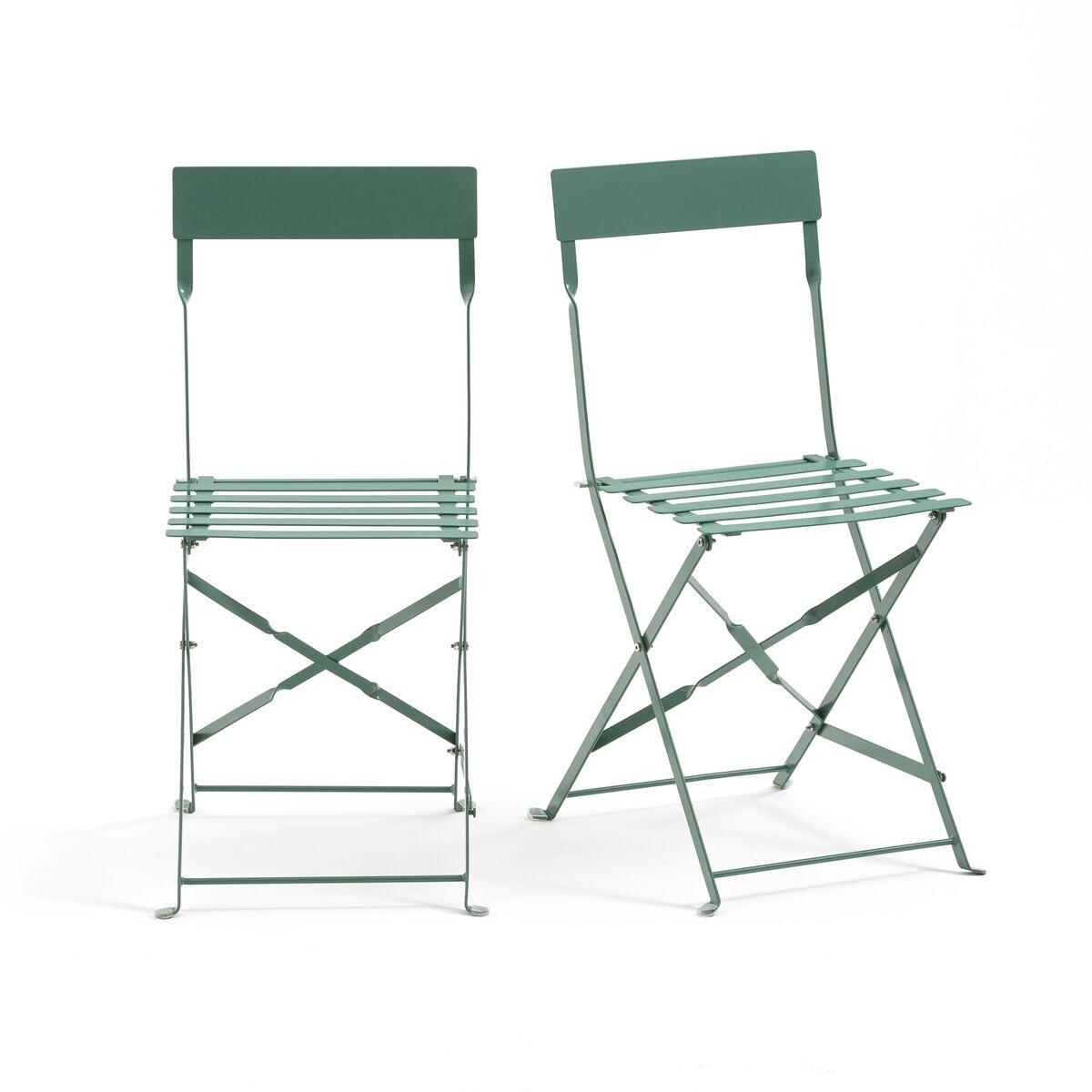 LA REDOUTE INTERIEURS Chaise pliante métal, OZEVAN (lot de 2)