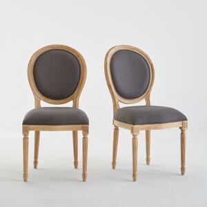 LA REDOUTE INTERIEURS Lot de 2 chaises médaillon Louis XVI, Nottingham