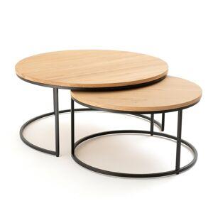 LA REDOUTE INTERIEURS Lot de 2 grandes tables basses gigognes chêne Vova