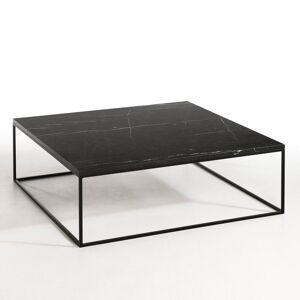 AM.PM Table basse métal noir et marbre, Mahaut
