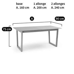 LA REDOUTE INTERIEURS Table extensible 4 à 8 couverts en chêne, Rachel