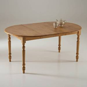 LA REDOUTE INTERIEURS Table à manger ronde, pin massif, Authentic Style