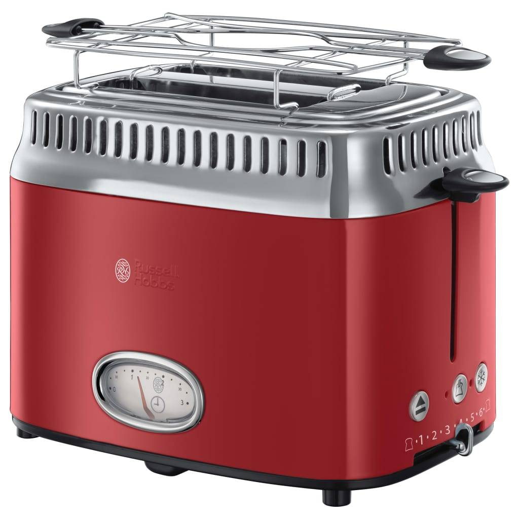 Russel Hobbs RUSSELL HOBBS 21680-56 - Toaster Retro - 2 fentes - 1300 W - Rouge