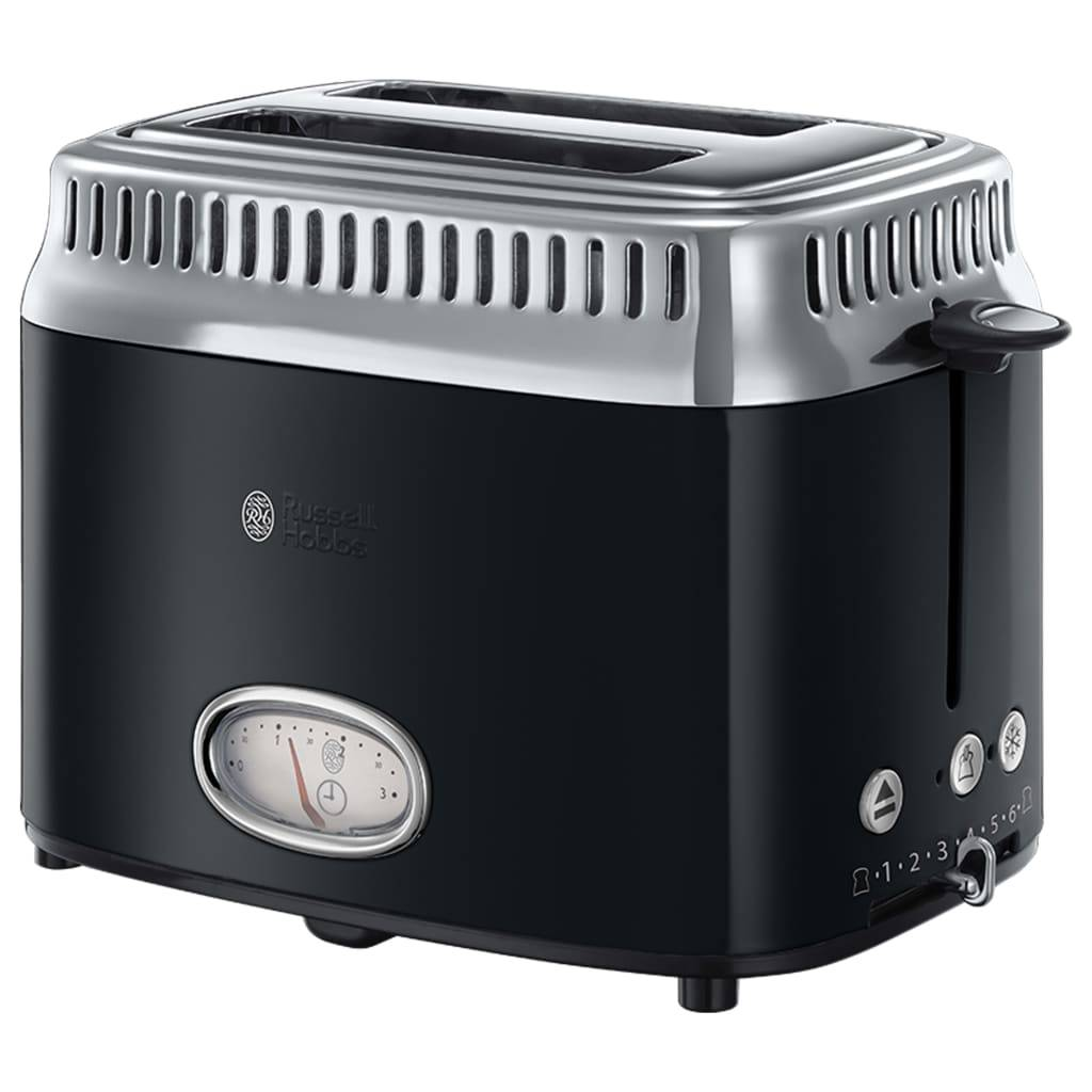 Russel Hobbs RUSSELL HOBBS 21681-56 - Toaster Retro - 2 fentes - 1300 W - Noir