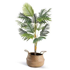 """IDMarket """"Palmier artificiel hauteur 115 cm plante avec pot"""""""