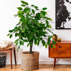 IDMarket Ficus artificiel Hauteur 90 cm plante avec pot