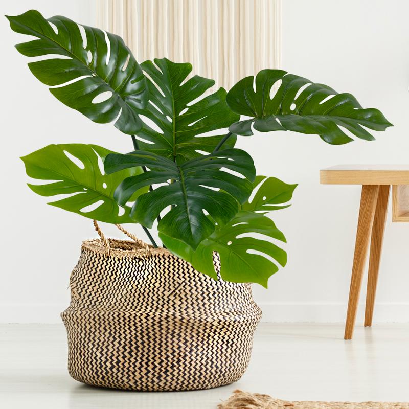 """IDMarket """"Plante monstera artificielle avec pot 70 cm"""""""