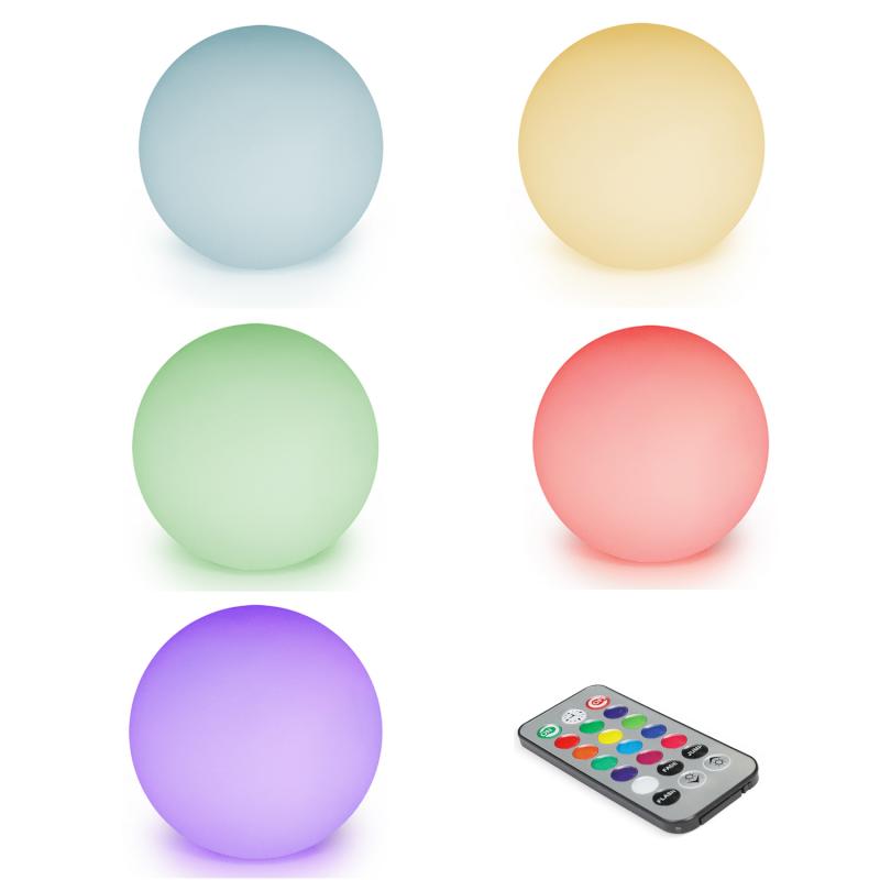 """IDMarket """"Lot de 5 lampes boules LED solaires multicolores avec télécommande"""""""