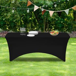 """IDMarket """"Housse noire pour table pliante 180 CM"""""""