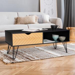 """IDMarket """"Table basse vintage LEONI motifs graphiques"""""""
