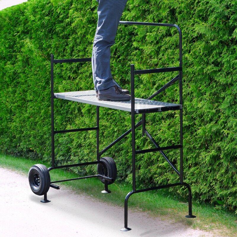 """ProBache """"Echafaudage mobile sur roues L.140 xl.78xH.135 cm avec 2 plateformes"""""""