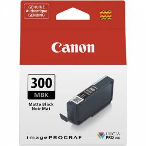 Canon Encre PFI-300MBK Noire Mat