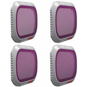 PGYTECH Pack de 4 Filtres pour Mavic 2 Pro (ND8-16-32-64)