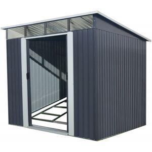 X-Metal Abri de jardin métal 5,64m² Skylight anthracite + kit d'ancrage X-METAL