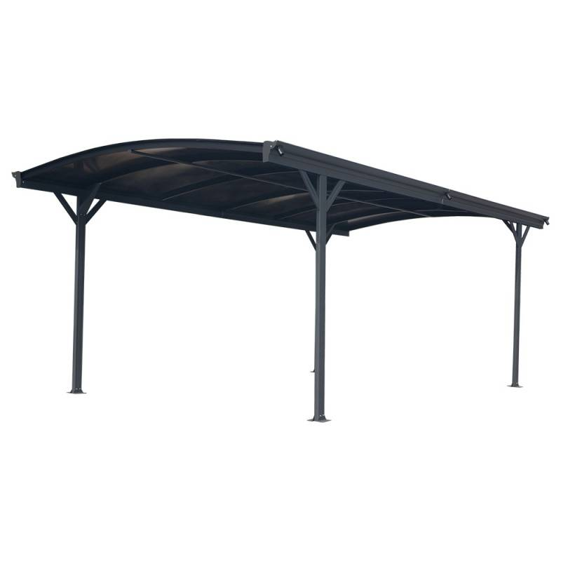 X-Metal Carport en aluminium anthracite 3x4,34m et polycarbonate 6mm X-METAL