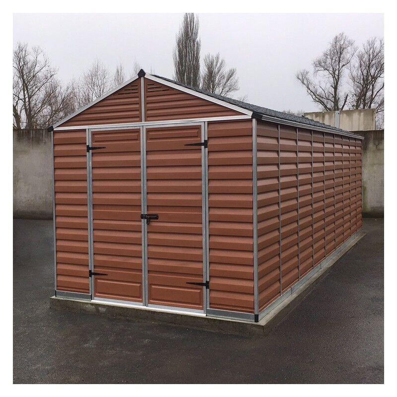 Palram Abri de jardin en polycarbonate 16,10m² Skylight Amber - Palram