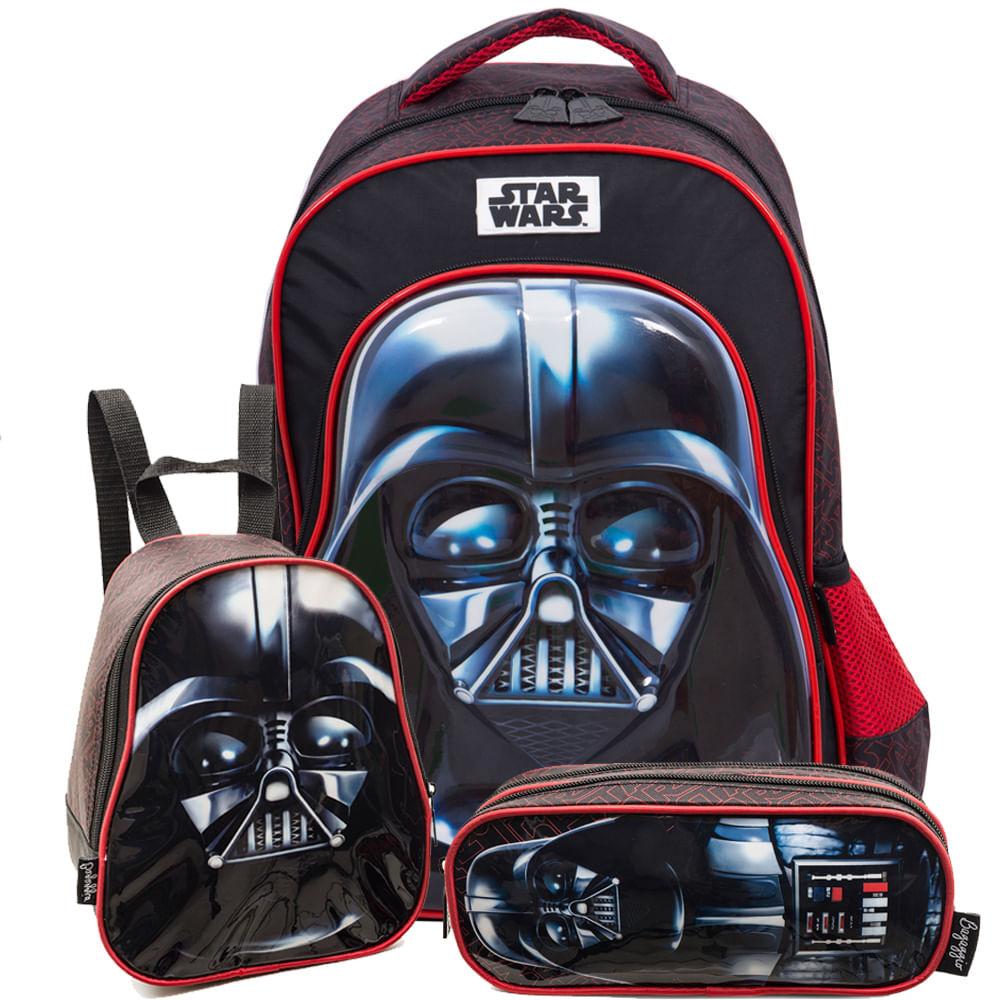 a4fe98a61 Star Wars Kit Darth Vader 19P - Mochila, Lancheira e estojo PRETO/U ·  Bagaggio