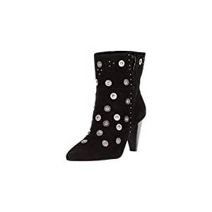 Lust For Life Casablanca Stud Bootie Black Suede Pointed Toe Metal Detail Boot (9)