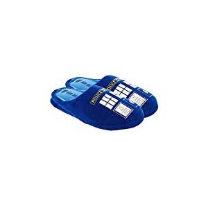 Doctor Who Pantufas femininas Tardis Pequenas Azul Marinho