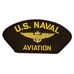 awells Patch Bordado Termocolante Importado U.S Naval Aviation (Dark blue)