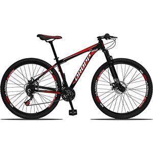 Dropp Bicicleta Aro 29 Freio a Disco Mecânico Quadro 17 Alumínio 21 Marchas Preto Vermelho