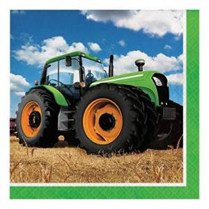 Party Creations LN 12/16CT 2P TRACTOR TIME BKF