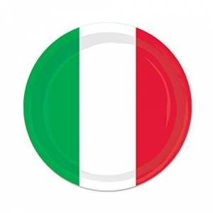 The Beistle Company Red, White & Green Plates (Pack of 12)