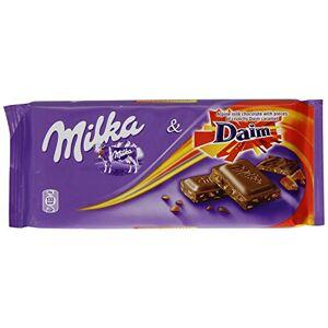Milka Daim Chocolate ao Leite & Cristais de Caramelo Importado da Áustria 100g