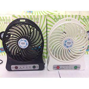 lojadotel Mini Ventilador Portátil Recarregável Usb 3 Velocidades preto ou branco (preto)
