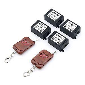 eMylo DC 6V 10A 4X 1CH 433Mhz RF Relé sem fio Controle Remoto Switches 2pcs Transmissor com receptor