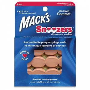 Mack's Protetor Auricular  Snoozers 22db 6 Pares