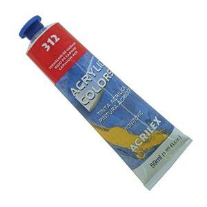 Acrilex Tinta Acrlica 20 ml Acrylic Colors 312  Vermelho de Cdmio
