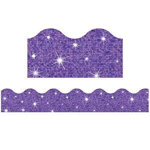 Trend Enterprises Inc Trend Aparadores fantsticos com borda brilhante, 2 painis de 6,35 x 99 cm, conjunto com 10, Roxa