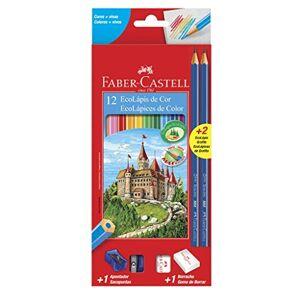 Faber-Castell Kit Escolar Lpis de Cor Sextavado + 2 Lpis Max + Apontador + Borracha, , 12 Cores