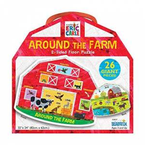 Briarpatch The World of Eric Carle Around the Farm 2-Sided Floor Puzzle