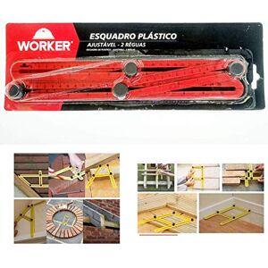 WORKER ESQUADRO PLASTICO AJUSTÁVEL COM 2 RGUAS 920940