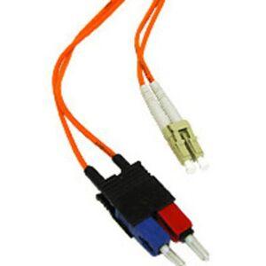 C2G / Cabos para Go LC/SC Duplex 50/125 Cabo de remendo de fibra multimodo, 30 metros, Laranja