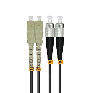 Jeirdus 300M SC para FC 10G OM3 Outdoor Armored Duplex 50/125 cabo de fibra óptica jumper, multimodo 300 metros, SC-FC