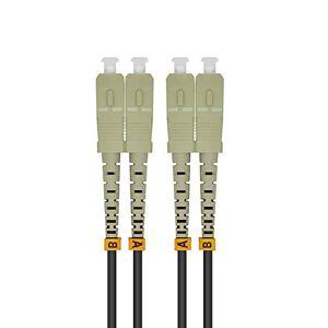 Jeirdus 300M SC para SC 10G OM3 Outdoor Armored Duplex 50/125 cabo de fibra óptica jumper, multimodo 300 metros SC-SC