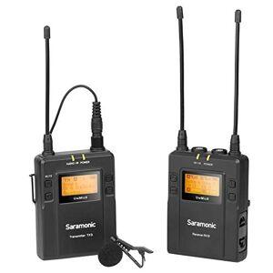 Saramonic UwMIC9 96-Channel Digital UHF Microfone Lapela Wireless , Includes RX1 Portable Receiver, TX9 Bodypack Transmitter